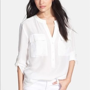 NWT Jones New York Women Cotton Shirt Tee Top L